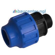 """PE-Rohr Adapter einseitig mit Au�Ÿengewinde AG 20mm 25mm 32mm 1/2"""" 3/4"""" 1"""""""