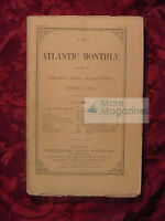 ATLANTIC Monthly Magazine April 1866 Oliver Wendell Holmes Harriet Beecher Stowe