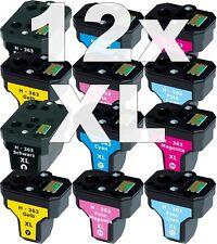 12x XXL PATRONE für HP363 C5180 C6250 C7180 C7280 C8180 3110 3210 3310 8230 8250