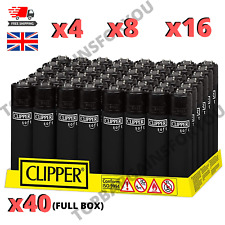 More details for clipper lighters set black soft touch feel new design refillable flint gas flame