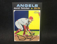 SP! 🚨David Fletcher 2020 Topps Heritage High Number #485 Los Angeles Angels