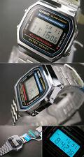 Reloj Casio A168 WA ORIGINAL con GARANTIA Plateado Plata Pulsera Caballero Retro