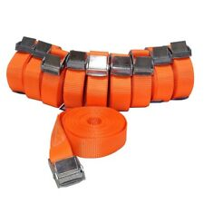 10x Spanngurt mit Klemmschloss 250 daN Kg 5m Meter Orange Zurrgurte 25 mm breit