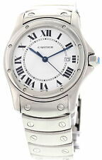Cartier Santos Ronde Date Stainless Steel Watch 15611