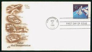MayfairStamps US FDC 1989 Future Mail Transportation Aviation Art Craft Washingt
