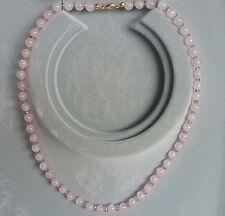 Collier,Morganit Kugeln, pink Saphir Button facettiert,Verschluss: Gold 585
