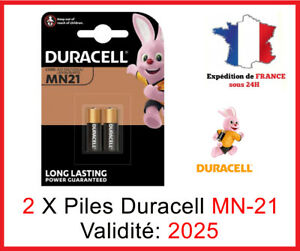 2 Battery Duracell MN-21/A23/K23A - 12V Dlc 2025