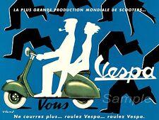 VINTAGE 1954 VESPA ADVERTISING A4 POSTER PRINT