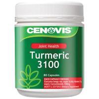 Cenovis Tumeric 3100 Capsules 80  mild anti-inflammatory properties