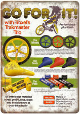 """10"""" x 7"""" Metal Sign - Troxel's Trakmaster Seats, Wheels, Pads - Reproduction"""