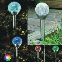 Crack Ball Garden Solar Lights Stainless Steel Colour Changings Led Solar Lights