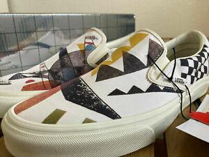 Vans x MoMA Vasily Kandinsky Art Classic Slip-On White Size 8.5 Men's NWB