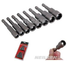 CT4140 BS 8Pc Magnetic Nut Impact Driver Socket Bit Set 6 7 8 9 10 11 12 & 13mm