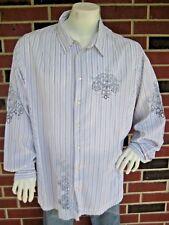 Men's 3J WORKSHOP The Le Bon Shirt Embroidered Long Sleeve Button Down Size 2XL
