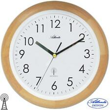 ATLANTA 44 Horloge murale radio-pilotée Montre Funky de cuisine en bois boîtier