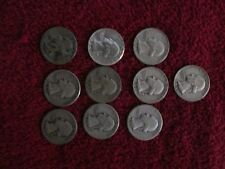 Lot of 10  silver Washington  quarter