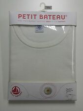NEW FREE SHIP - Petit Bateau Girls Long Sleeves T-Shirt Beige 10 Yr 138cm Cotton