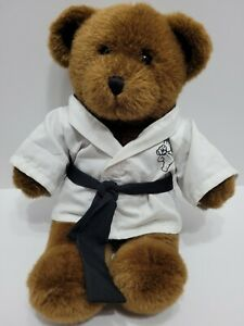"Build a Bear Plush Teddy Plush With Black Belt Karate Outfit 17"" Black Bear"
