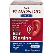 3 Pack Lipo flavonoide Plus Orelha cápsulas de saúde, Para Orelha tocando, contagem de 100 Cada