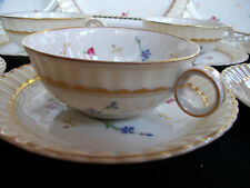 "BERNARDAUD POMPADOUR-c1900- CUP & SAUCER(S)- 1 3/8""h - RING HANDLE!  RARE! MINT!"
