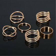 Metal Cross Jewelry 6pcs/set Rings Europe Woman United States Knuckle Fashion