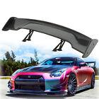 "Universal 57.5"" Adjustable Carbon Fiber color Rear Trunk 3D Racing Spoiler Wing"