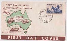 Stamp Australia 3&1/2d blue UPU Neville Menz Darling Downs generic cachet FDC