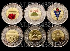 """🇨🇦CANADA 2018 2019 2020 """"REMEMBER"""" 2 DOLLARS COIN SET UNCIRCULATED"""