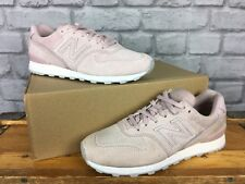 NEW BALANCE LADIES UK 5 EU 37.5 PALE PINK 696 SUEDE TRAINERS RRP £85