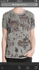 IRO Nasta Burnout Top, Grey, As New, Sz L, RRP $197