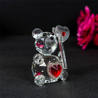 I Love You Crystal Teddy Bear Valentines Gift Prsent Ornament  7850-1