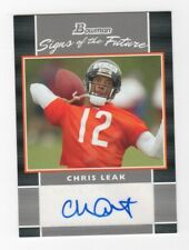 Chris Leak AUTOGRAPH RC Chicago Bears 2007 Bowman AUTO Football Florida State