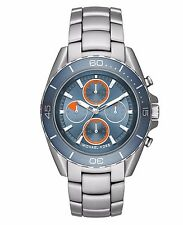 Michael Kors JetMaster Mens Watch Blue Dial Stainless Steel Chronograph MK8484