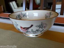 LENOX CHINA USA SERENADE CANDY BOWL  DISH BIRDS NUTS