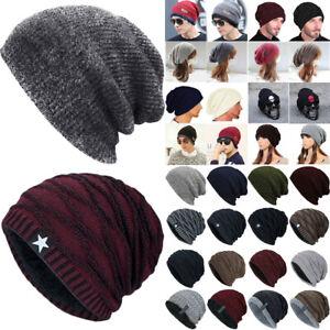Unisex Knit Slouchy Baggy Beanie Hat Men/women Winter Warm Skateboard Skull Caps