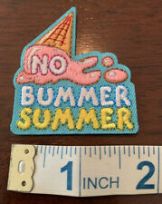 """""""No Bummer Summer� Fun Patch Iron-on Girl Scout Badge 2020 Ice Cream Cone"""