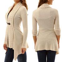Womens Long Sleeve Knitted Cardigan Loose Sweater Long Jacket Coat Outwear Tops