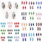 DIY Jewelry Making Faceted Teardrop Pendant Spacer Beads Earring Findings 6x12mm