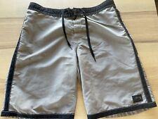 New Vintage Stussy Tan 100% Nylon Made in USA Surf Board Shorts Swim Trunks
