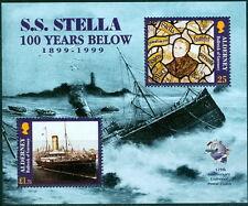 GB - ALDERNEY 1999 Cent of the Wreak of Mail Steamer Stella SG MSA124a MNH SHIPS