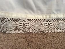 Seventh Heaven King SizeBed Base Valance Cream with ribbon and lace trim