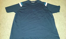 Nike T-Shirt Mens Size 2XL/XXL Blue White Small Logo Heavier Material NICE!