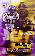 2001 Cris Carter Minnesota Vikings Original Starline Poster OOP
