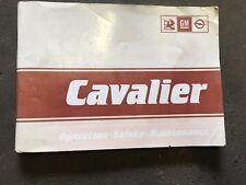 VAUXHALL CAVALIER MK2 OWNERS HANDBOOK INSTRUCTIONS MANUAL OPERATION BOOK