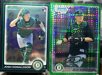 2010 (2) Bowman Chrome Draft RC/1st Bow. Chrome Xfractor Josh Donaldson TWINS