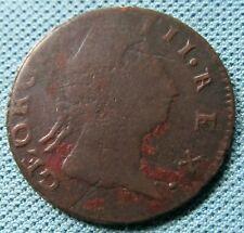 1769 Rare Retrograde Date Non Regal Irish George III Colonial Halfpenny Copper