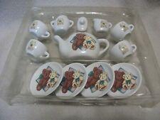 13 Piece Childs Porcelain Tea Set- Teddy Bears- Theme, 1995 T.H.T.