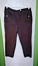 Vintage Kayo Brown Womens-2x-Corduroy stretch Casual Pants, Altered w/buttons