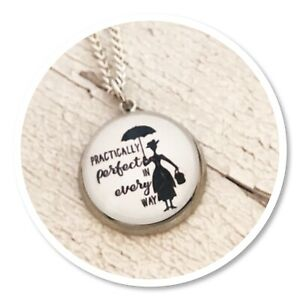 Mary Poppins Practically perfect charm necklace
