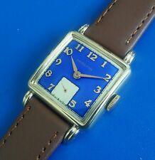 Exquisite Vintage 1950 Mans Hamilton *Dewitt*  Hand Winding Watch Blue Dial